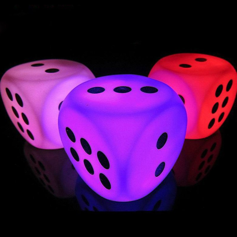 Battery Powered Dice Led For Bedroom Night Light