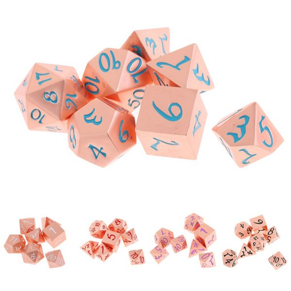 pink gold dice