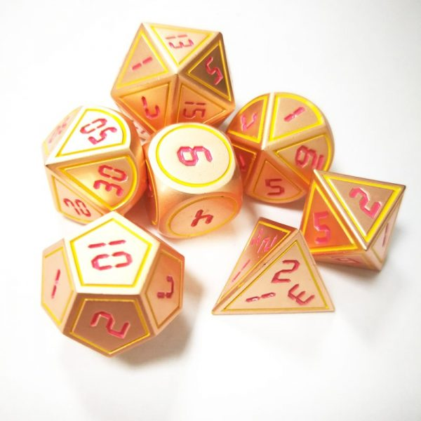 Metal DnD Dice