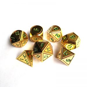 Gold DnD Dice Set