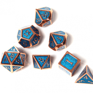 Blue DnD Dice Metal