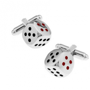 Dice Cufflinks Men Silver