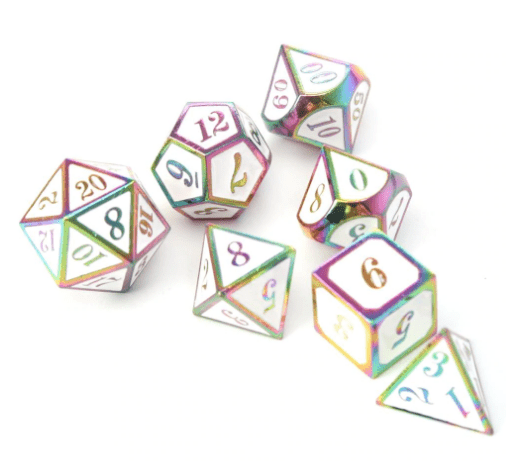 White D&D Dice Set
