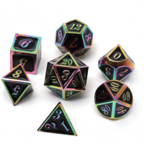 Polyhedral DnD Dice From Metal