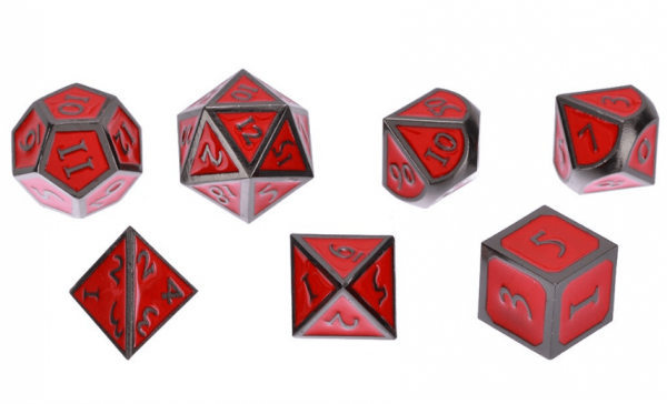 Red DnD Metal Set