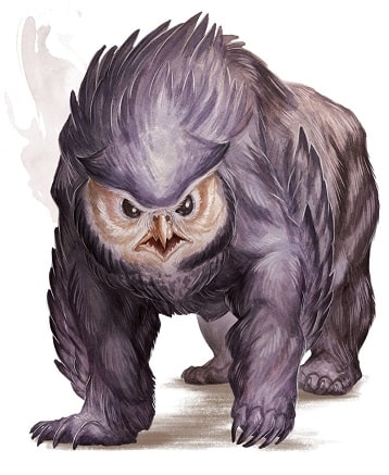 dungeons and dragons monsters owlbear